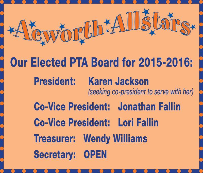 PTA 2015-2016 Board