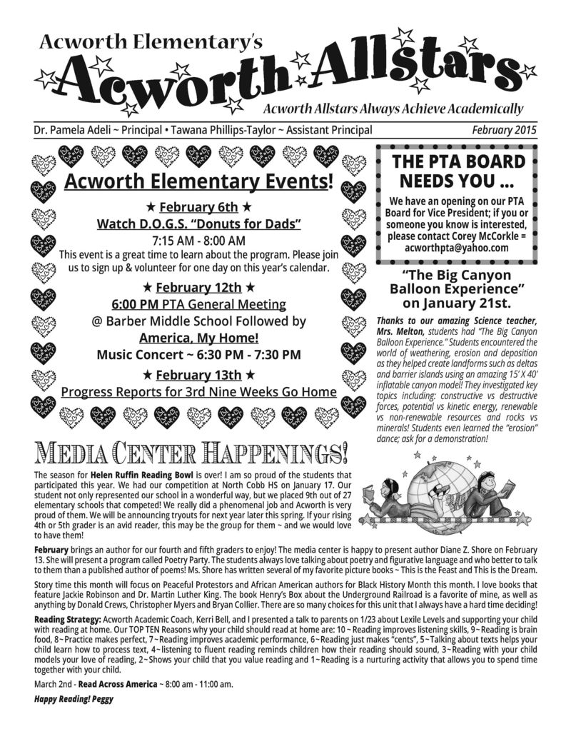 February 2015 PTA Newsletter_Page_1
